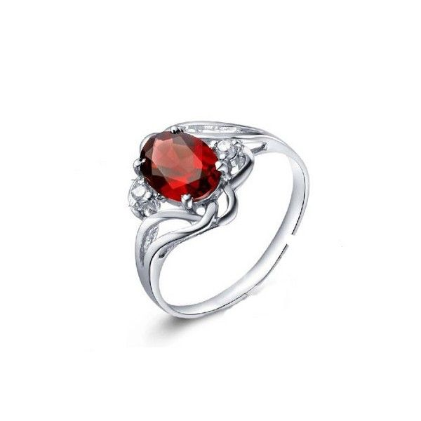 1 carat real garnet engagement ring on silver jeweloceancom