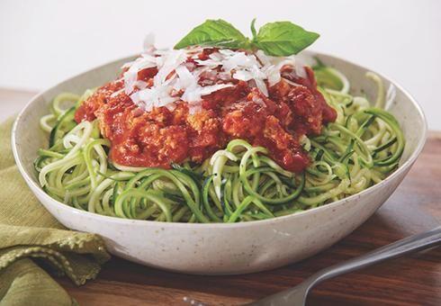 Boloňské cuketové špagety