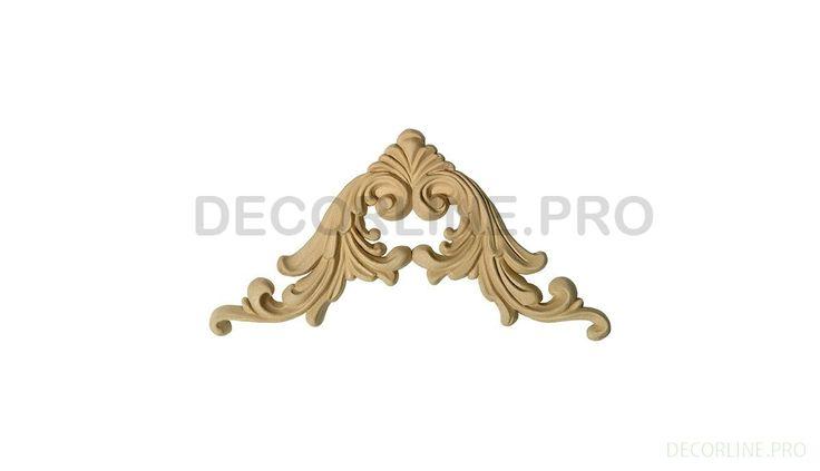 УГЛОВЫЕ ЭЛЕМЕНТЫ из древесной пасты OV-40 Размер/Size: 102-102-8. Резной декор из древесной пасты, древесной пульпы, полимера, полиуретана, ППУ, МДФ, прессованный декор, декор из массива, декор из дерева