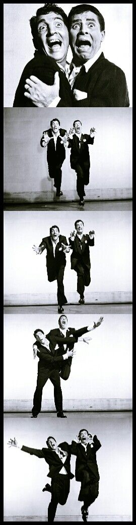 My brother and I take pictures like Jerry Lewis and Dean Martin.