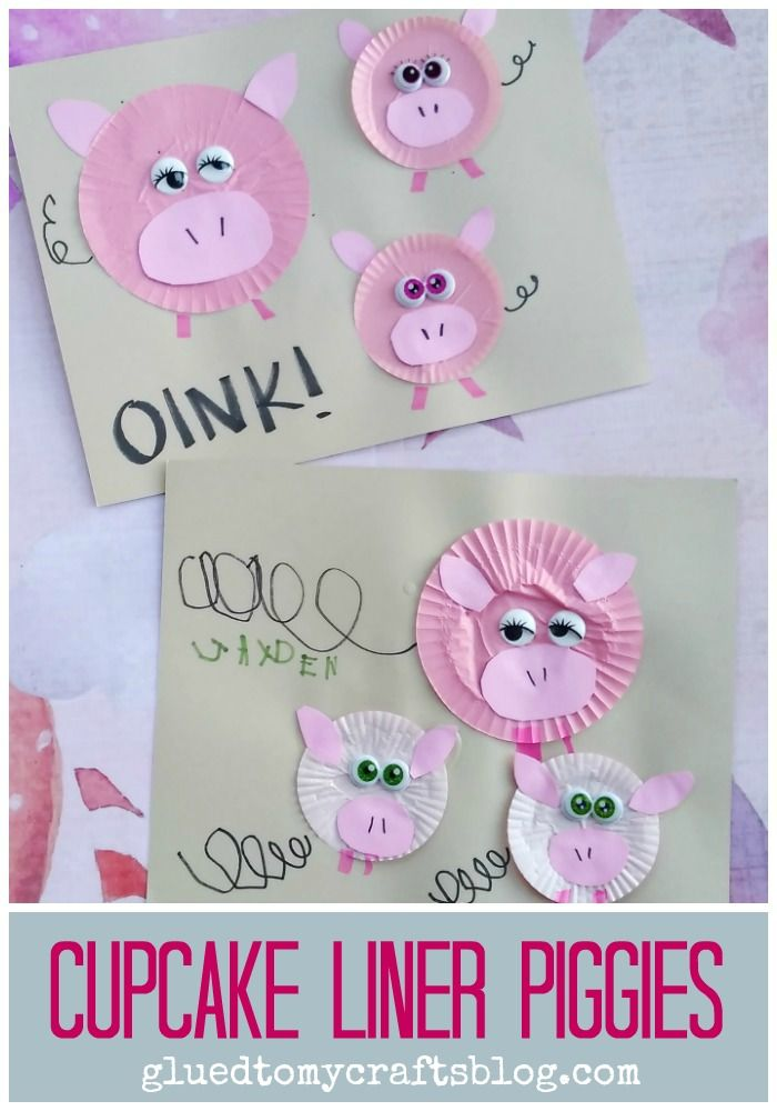 Find tons of Cupcake Liner Kid Crafts on Glued To My Crafts - Cupcake Liner PIggies Kid Craft