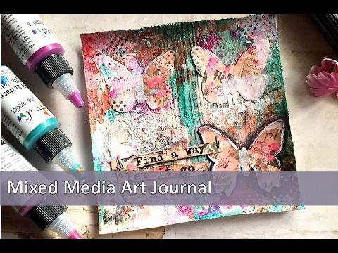 the Colour Press: (Video Tutorial) : Butterfly Art Journal page using Colourarte Vivid Ultra Metallics