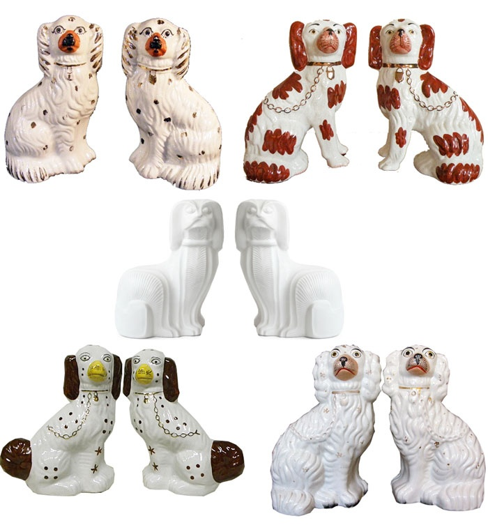 A collection of Staffordshire Dogs