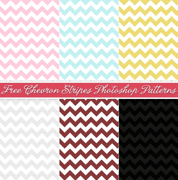 FREE chevron Photoshop Patterns - can be used for commercial use, just not sold alone