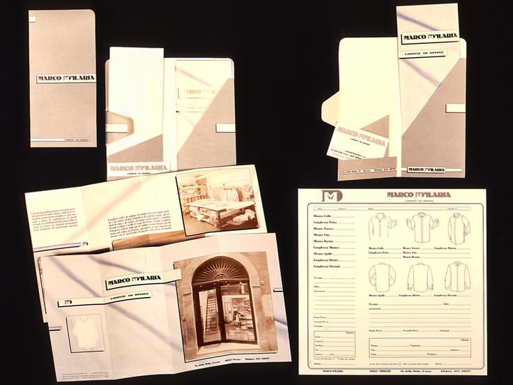 > Cliente (client):  Marco D'Ilaria, (Italia).  > Settore di attività (line of business):  camicie su misura artigianali.  > Lavoro creativo (creative work):  project, art direction, graphic design.