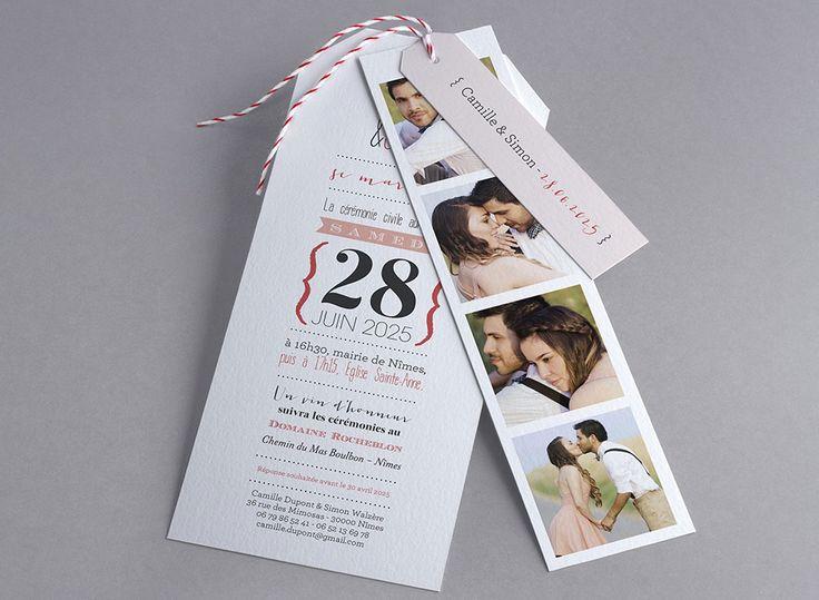 Faire-part de mariage Only White M42-004 - Collection Trendy - Faire-part-creatif.com