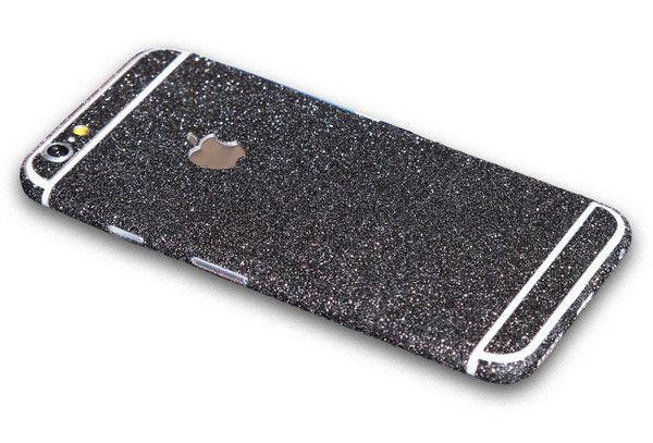 premium glitzer folie iphone 6 6s schwarz mrstraps i. Black Bedroom Furniture Sets. Home Design Ideas