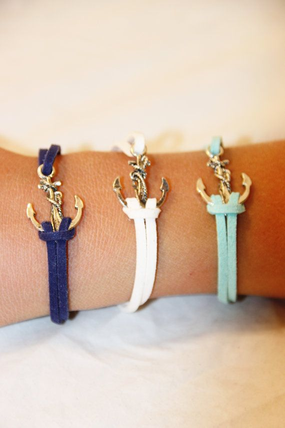 Comes in SIX different colors!!!  Nautical Anchor Charm Bracelet. Comes in by CreativeforHisGlory, $4.99