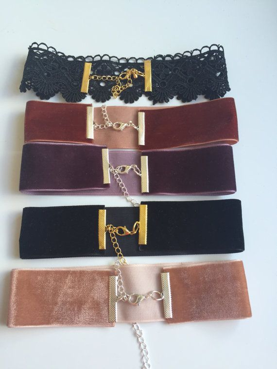 Velvet choker necklaces by FashioneditStudio on Etsy                                                                                                                                                     More