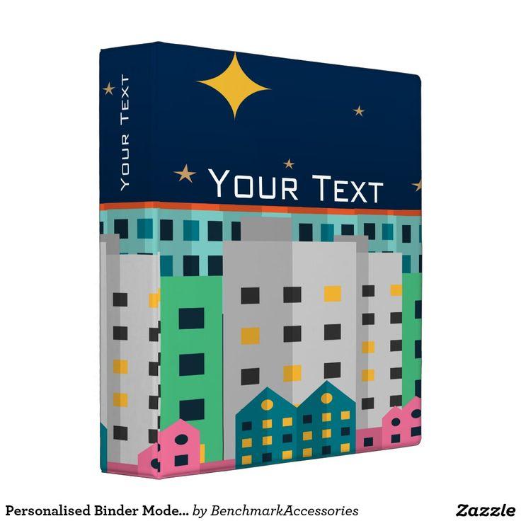 Personalised Binder Modern City Night UX Design