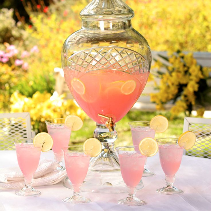 This sweet and pinkalicious lemonade is sure to please at your next party.