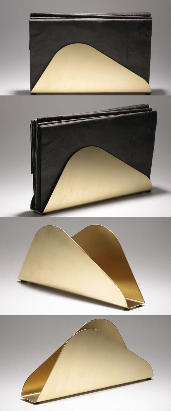 Brass Modern Tissue Box Paper Holder Napkin Holder Stand Rack Vertical Box Caddy Napkin Holder Modern Napkin Holders Tissue Napkins