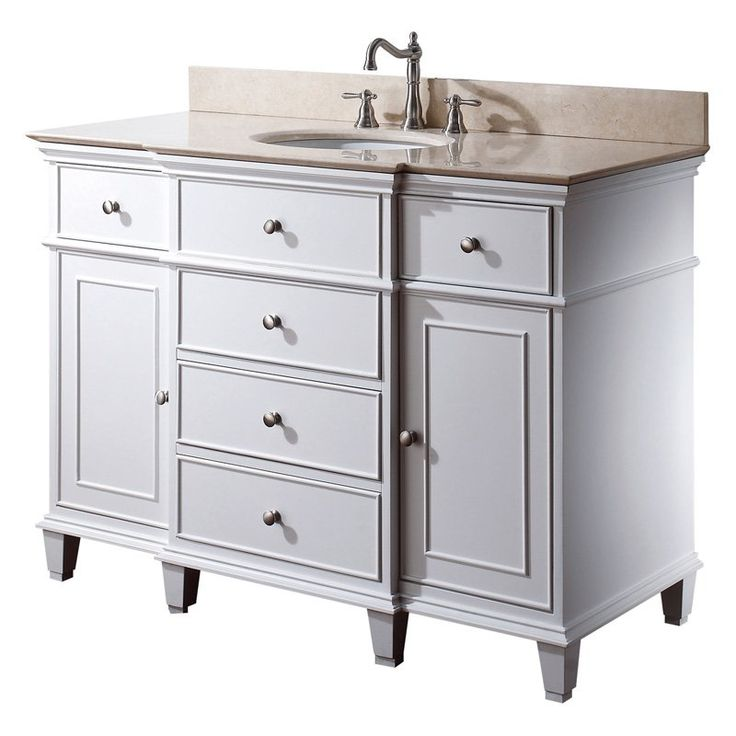 Pics Of Avanity Windsor in Single Bathroom Vanity White Make clutter a thing of the past while adding classic style with the Avanity Windsor in