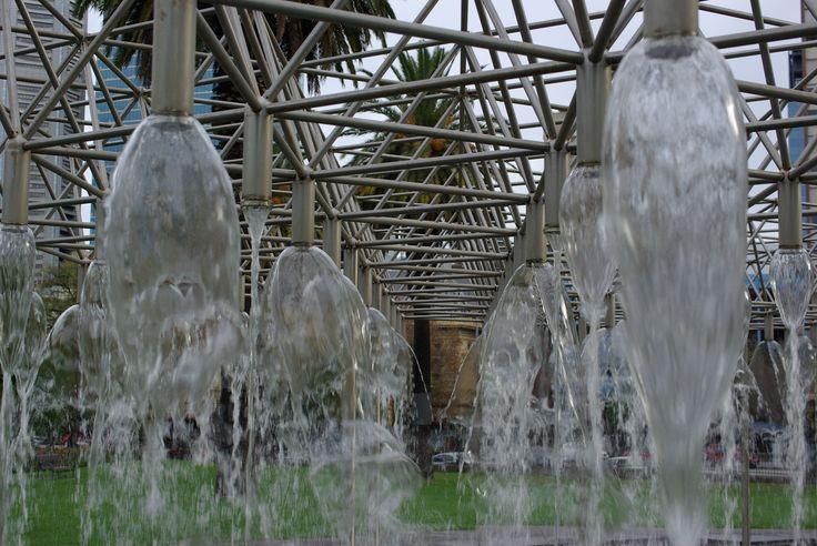 Water Fountains - Nr Parliament House & Gardens, Melbourne Architecture & Design. Photo by Rodney Cheuk & Tamara Desiatov 2014