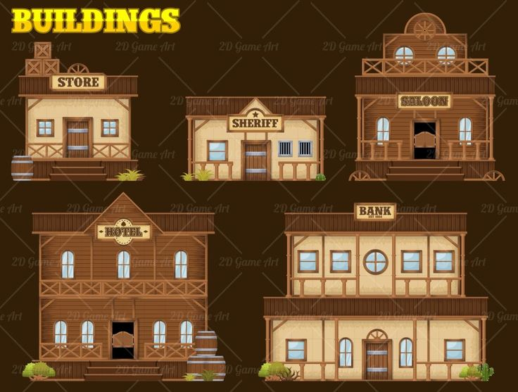 Wild West - Platformer Tileset - Game Art 2D
