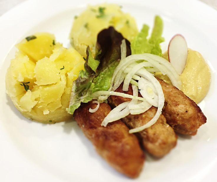 Denné menu Vranov | Šúľance z mletého mäsa s horčicou a cibuľkou, mastené zemiaky - reštaurácia Hotel Patriot*** #hotel #restauracia #dennemenu