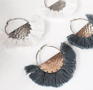 The gorgeous Phi Phi Earrings - Both colours available now at tealandtala.com.au