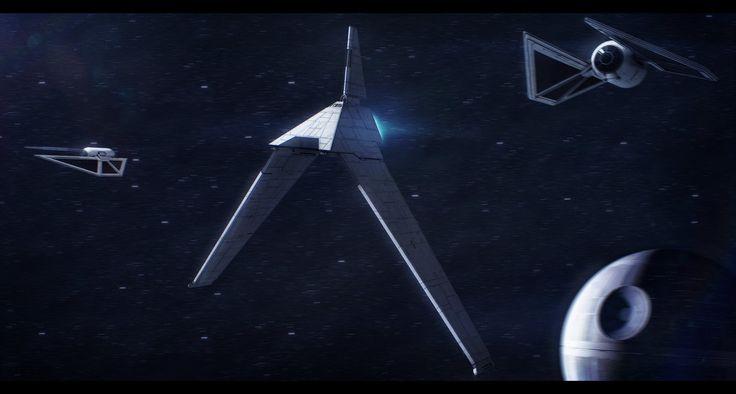 Star Wars Rogue One Director Krennic's Shuttle by AdamKop.deviantart.com on…
