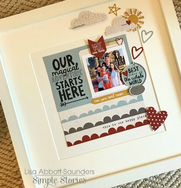 Layout from creative team member Lisa Abbott-Saunders using the Say Cheese III collection