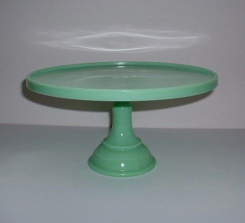 Jadeite cake stand mosser jadeite cake stand 24010j 10 for Colored glass cake stand