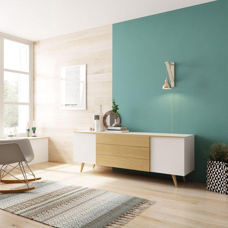 Aparador para el sal n de estilo n rdico http www - Mueble nordico madrid ...
