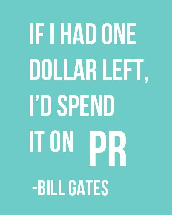I agree! #PR