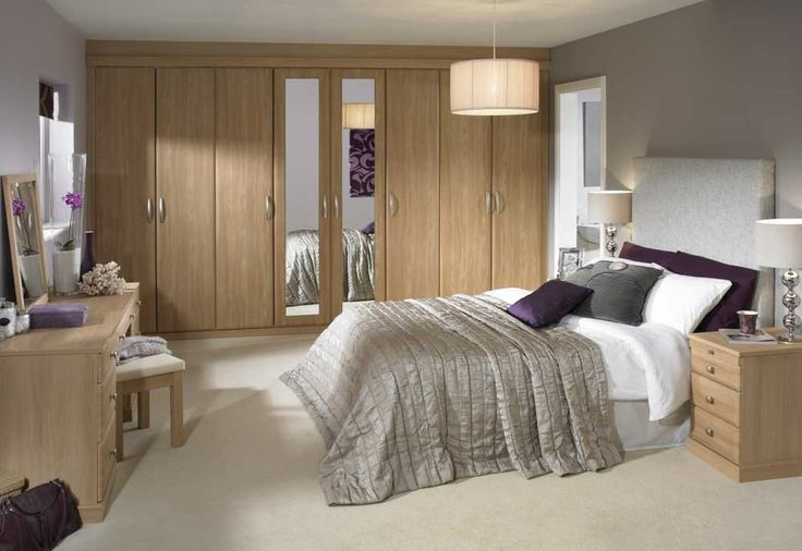 Large Modern Bedroom Cupboards with custom handmade ideas and the equipped round shade pendant lamp