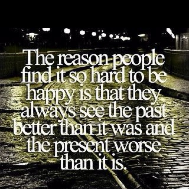 The reason people find it so hard to be happy