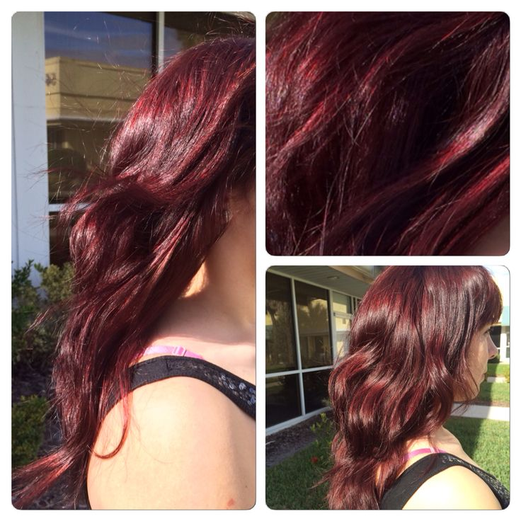 Sangria Red Haircolor Done With Redken Shades Eq Perfect