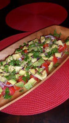Tomato, Onion & Avocado Salad | yum! | Pinterest
