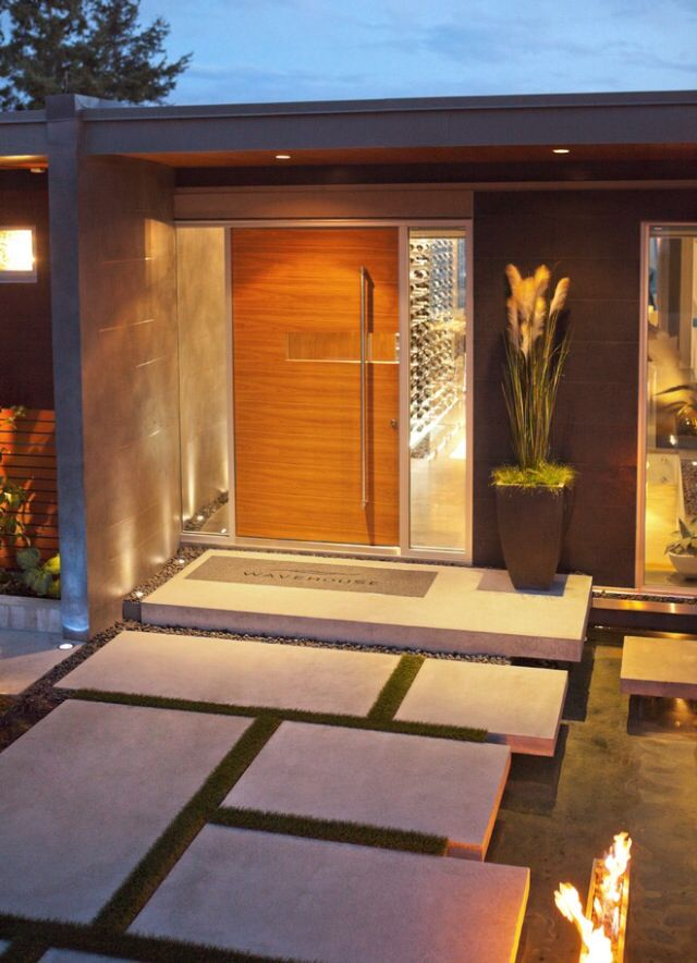 Zen home entrance