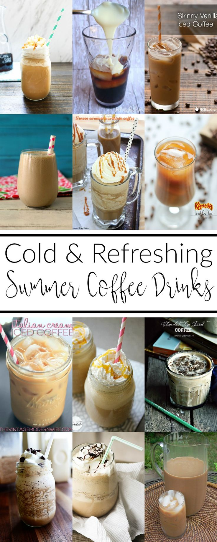 Don't be stuck drinking plain old iced coffee when you can choose from these 12 cold and refreshing summer coffee drinks this season.