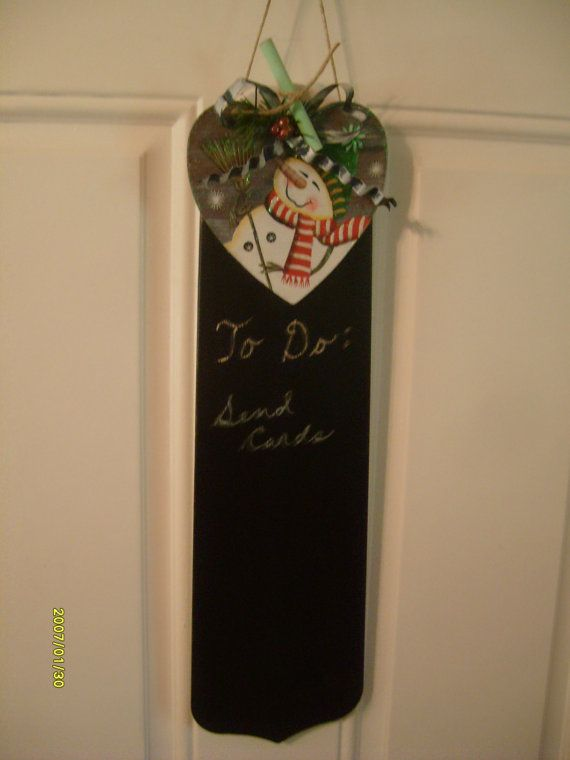 Snowman Chalk Board Ceiling Fan Blade by MoMoBsBoutique on Etsy, $22.00