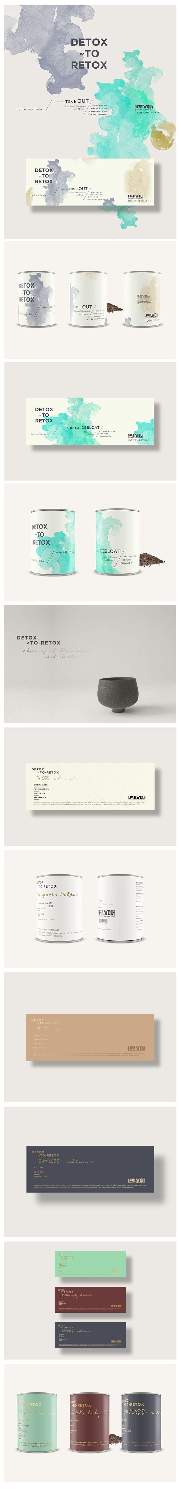 Detox to Retox. #branding #packaging #design