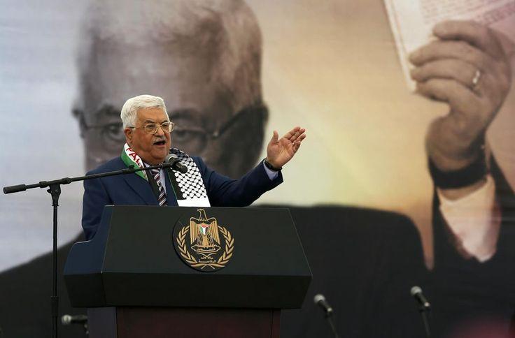 Le président palestinien Mahmoud Abbas à Ramallah le 10 novembre 2016, pour la commémoration du 12e anniversaire de la mort de Yasser Arafat.