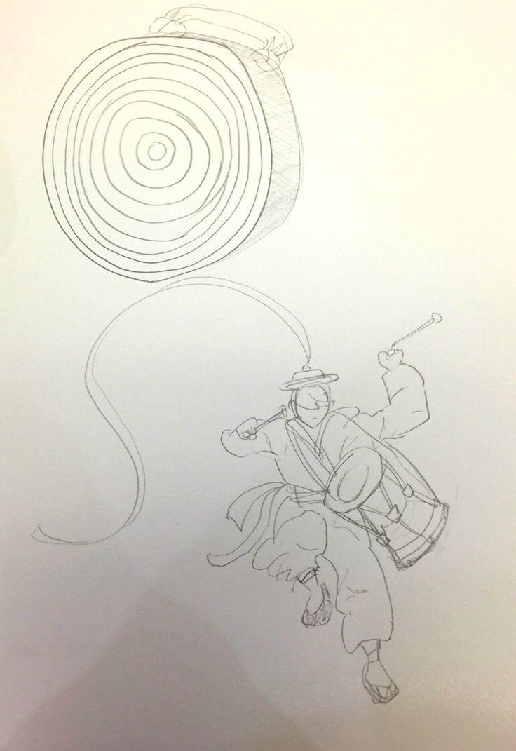 Theme: Samulnori Group 5 Observational drawing1-김현지