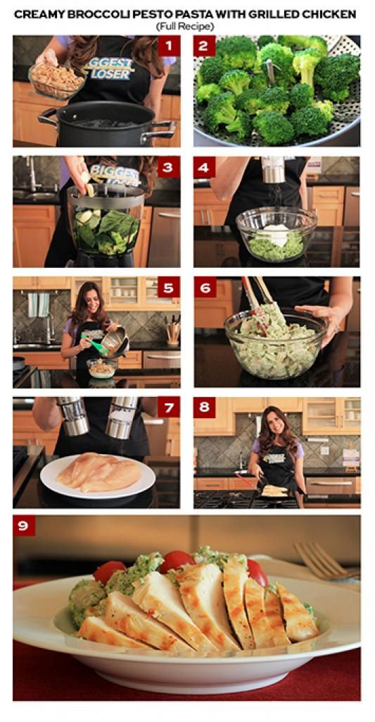Creamy Broccoli Pesto Pasta with Grilled Chicken | The Biggest Loser Partners, Fitness, and Nutrition