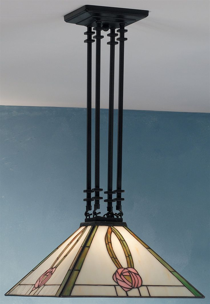 South Shore Decorating: Meyda Tiffany 66583 Mack Pink Rose 4 Post Pendant Light MD-66583