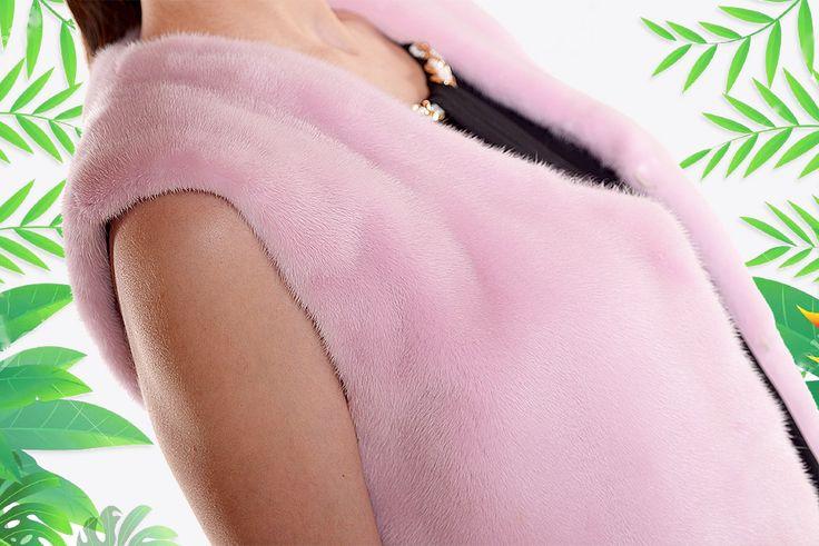 Let's get tropical. Awesome mink fur vest in pink colour. Orders at info@pt-furs.com