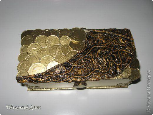 Декор предметов Аппликация из скрученных жгутиков Мативационная шкатулка  Картон фото 1