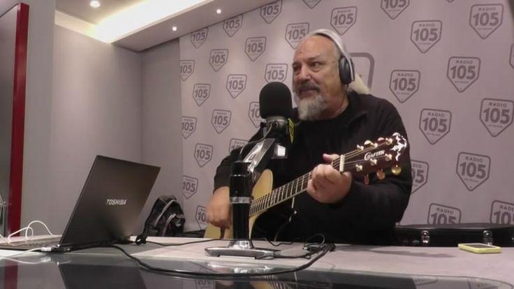 """""""Amo la radio perchè arriva dalla gente"""": l'illustre autore Eugenio Finardi lo ha cantato in onda con Max Brigante. Guardate il video. #cantante #EugenioFinardi #Radio105"""