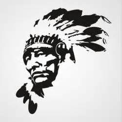 native american chief stencil more silhouette stencil american indian