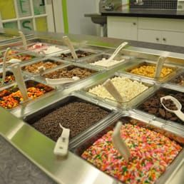 Photo of Fresh Premium Frozen Yogurt - Dunkirk, MD, United States. Over 30 different toppings options in our fresh topping bar!