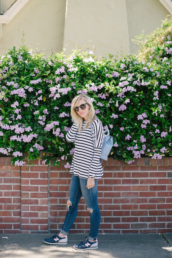 Our Editors Style The Most Versatile Striped Top | theglitterguide.com