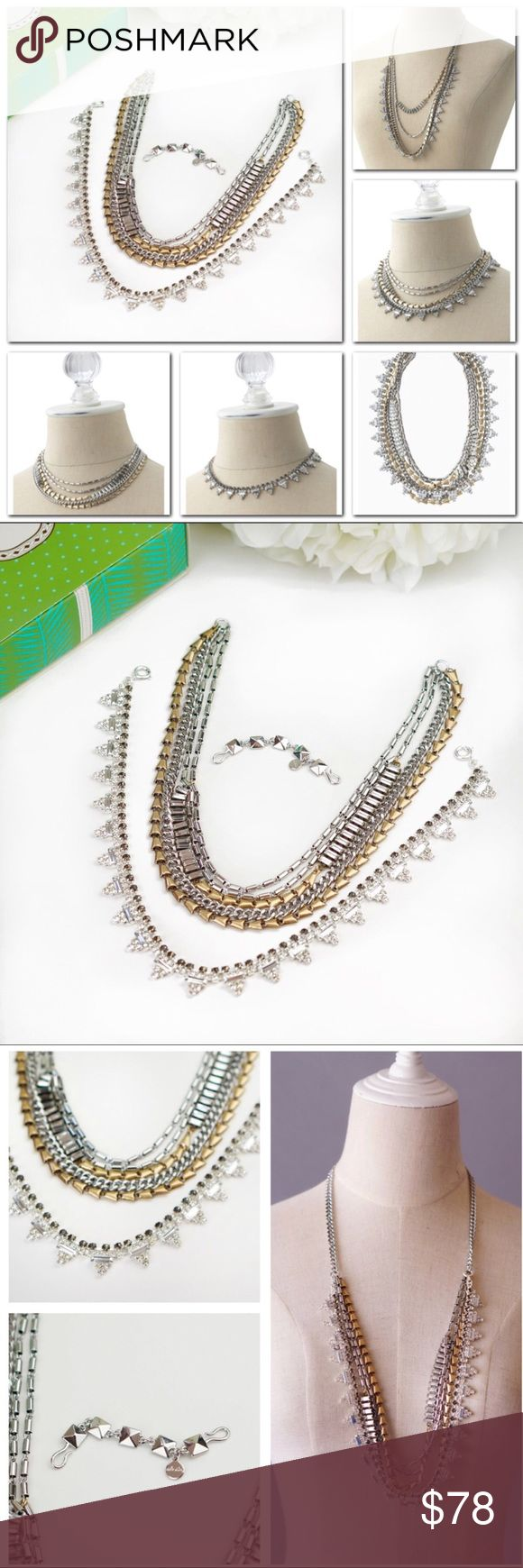 "Stella Dot SUTTON Mixed Metal Statement Necklace New In Box. Never worn. Our most versatile fashion necklace yet! Five (count 'em) ways to wear our Sutton statement necklace: Long and loose for a laid-back look. Clasped into a statement when you're feeling bold. Plus or minus the sparkle strand. Or just the sparkle when you're in the mood to shine. * 17.75"" when worn short and 32"" when worn long. * Mixed metal plating. Stella & Dot Jewelry Necklaces"
