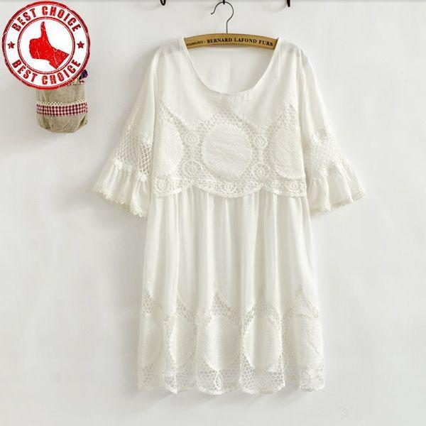 Blume häkeln Sticken weiße Bluse