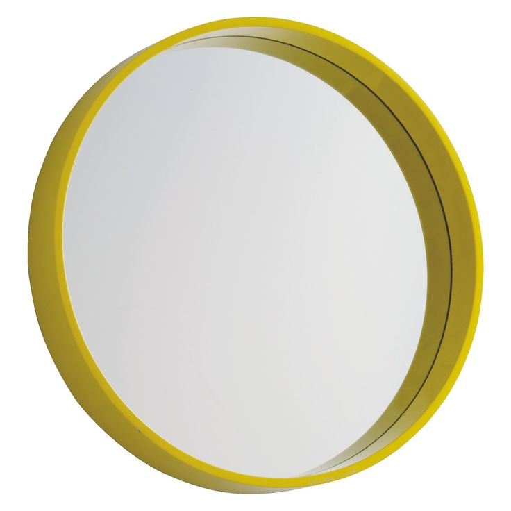 AIMEE Yellow round wall mirror D41cm | Buy now at Habitat UK