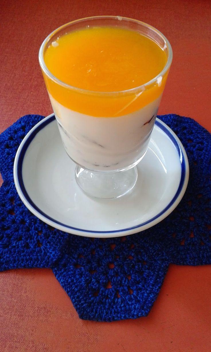 Mandarinzselés, tejfölös-kekszes kehely