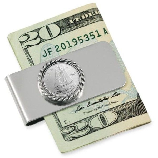 American Coin Treasures Silver Canada Ship Coin Money Clip ($30) ❤ liked on Polyvore featuring men's fashion, men's accessories, men's money clips, men, accessories, filler, money, set accessories, silver and mens money clip