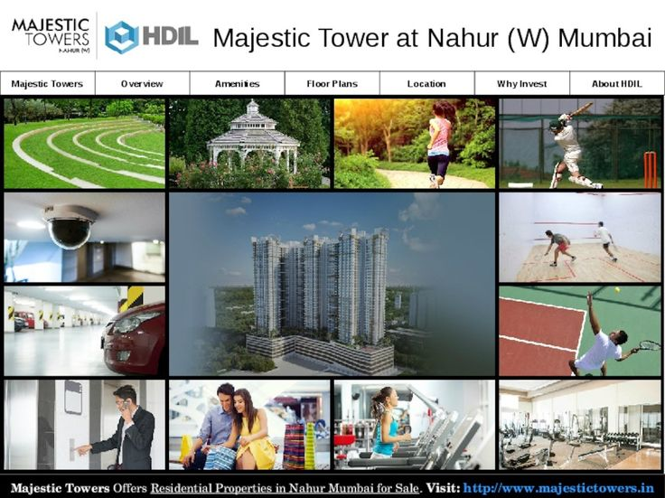 Majestic Towers Amenities - Residential Properties in Nahur Mumbai for Sale